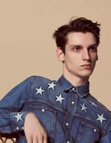 Denim shirt with star embroidery