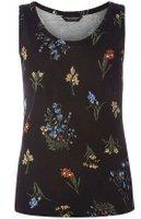 Dorothy Perkins Womens Black Floral Print Vest- Black