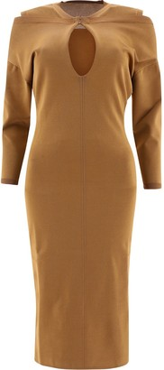 Burberry Cut -Out Fitted Dress