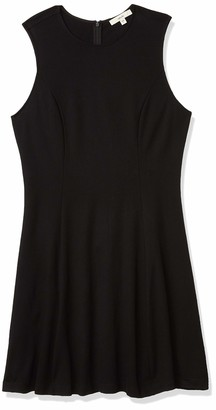 Lark & Ro Women's Ponte Sleeveless Fit and Flare Dress