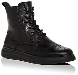 Karl Lagerfeld Paris Men's Brogue Wingtip Combat Boots