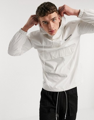 Sixth June reflective overhead jacket with logo in white