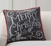 Pottery Barn Merry Christmas Pillow Cover