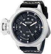 Welder Unisex 3608 Analog Display Quartz Black Watch