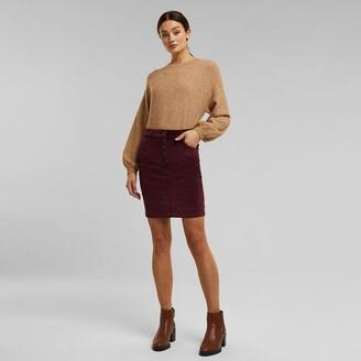 Esprit Buttoned Corduroy Mini Skirt