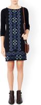 Monsoon Julia jacquard embroidered dress