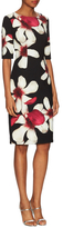 Carolina Herrera Floral Print Sheath Dress