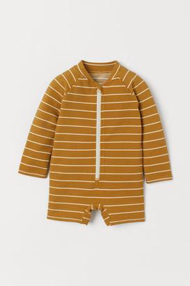 H&M Swimsuit UPF 50 - Yellow
