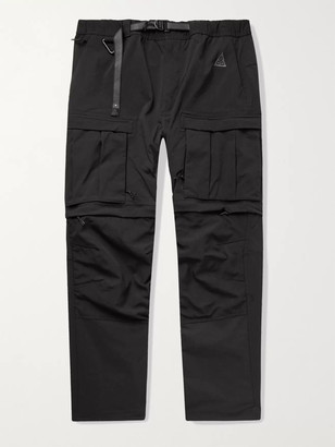 Nike ACG Smith Summit Belted Nylon-Blend Cargo Trousers - Men - Black