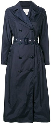 MACKINTOSH Navy Nylon Long Trench Coat LM-091B