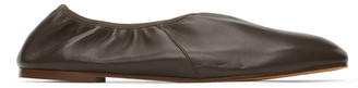 Emme Parsons Brown High Throat Ballerina Flats