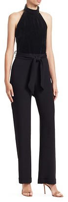 Carolina Ritzler Velvet Top Sleeveless Jumpsuit