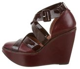 Robert Clergerie Leather Wedge Sandals