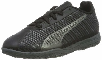 Puma Unisex Kids ONE 5.4 IT Jr Futsal Shoes Black Black Black Aged Silver 5 UK Child 38 EU