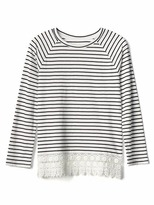 Gap Crochet-trim stripe tee