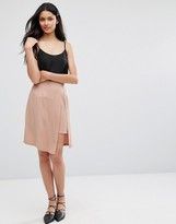 Lavand Pink Skirt with Layered Split