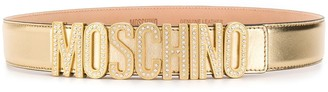 Moschino Embellished Logo Belt