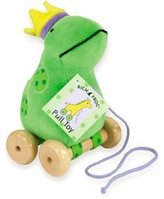 Rich Frog Frog Pull Toy 7""
