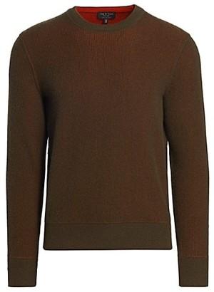 Rag & Bone Finch Ribbed Cashmere & Wool Sweater