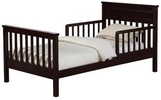 Harriet Bee Villegas Toddler Slat Bed Bed Frame Color: Espresso