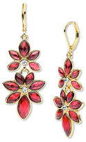 Anne Klein Flower Siam Epoxy Stone Drop Earrings
