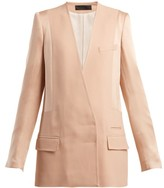 Haider Ackermann Kuiper Double-breasted Jacket - Womens - Light Pink