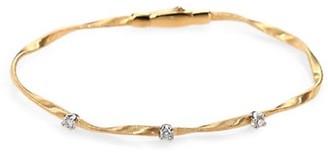 Marco Bicego Marrakech 18K Yellow Gold & Diamond Twisted Strand Bracelet