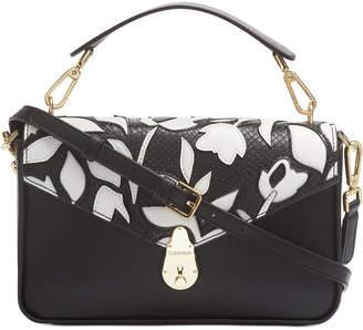 Calvin Klein Lock Leather Flap Shoulder Bag