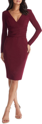 Dress the Population Drew V-Neck Long-Sleeve Bodycon Dress