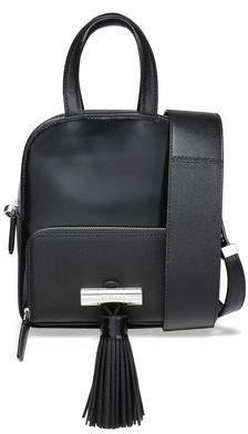 Kenzo Sailor Tasseled Glossed And Textured-leather Shoulder Bag