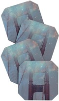 DENY Designs Maybe Sparrow Photography Starry San Francisco Coaster - Set of 4