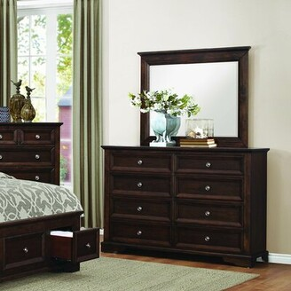 Homelegance Eunice 8 Drawer Double Dresser with Mirror