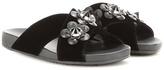Fendi Embellished Velvet Sandals