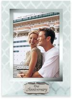 "Malden® 5-Inch x 7-Inch ""Our Anniversary"" Glass Photo Frame"