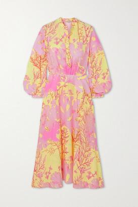 Stella McCartney Alyssa Asymmetric Printed Silk Dress - Pink