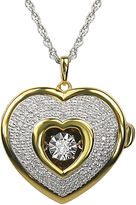 FINE JEWELRY Love in Motion 1/10 CT. T.W. Diamond Two-Tone Heart Locket Pendant Necklace