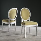 Safavieh Old World Dining Holloway Spring Green/ Cream Parisian Oval Side Chairs (Set of 2)