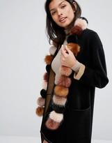 Urban Code Urbancode Faux Fur Pom Long Scarf