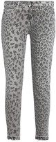 Thumbnail for your product : Current/Elliott Printed Mid-rise Skinny Jeans