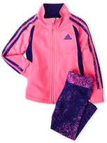 adidas Infant Girls) Two-Piece Tricot Jacket & Printed Leggings Set