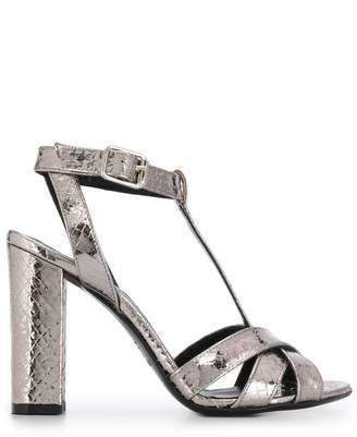Twin-Set T-bar block heel sandals