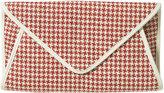 Check Straw Envelope Clutch