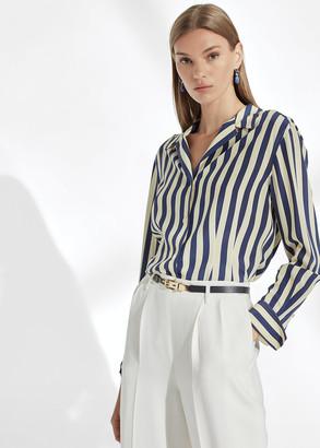 Ralph Lauren Vanna Striped Silk Shirt