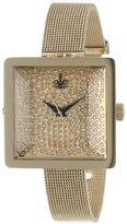 Vivienne Westwood Women's VV053GDGD Lady Cube Gold Tone Stainless Steel Swiss Quartz Ring Watch