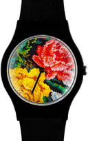 May 28th MAY28TH 08:57am floral cross-stitch watch