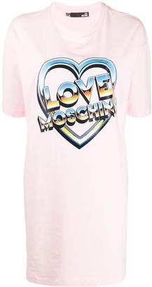 Love Moschino short sleeve logo print T-shirt dress