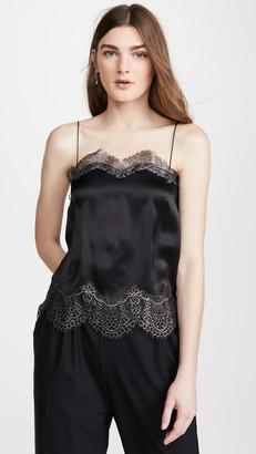 ANAÏS JOURDEN Black Silk Satin Camisole