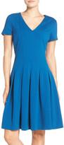Eliza J Ponte Fit & Flare Dress (Regular & Petite)