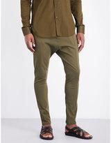 Balmain Slim-fit Dropped-crotch Cotton-blend Trousers