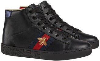 Gucci Kids Children's leather high-top sneakers